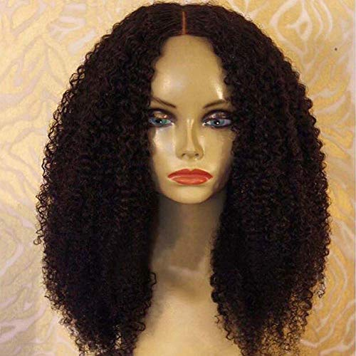 ALYSSA Afro Kinky Curly PrePlucked Virgin Hair Wig Stock For Black Woman Human Hair Lace Front Wigs On Sale For Woman 20inch Natural -