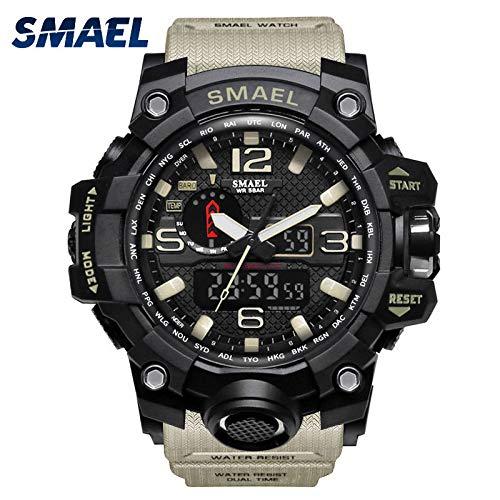VEHOME Reloj Deportivo SMAEL para Hombre - Pantalla analógica Digital Doble - Reloj electrónico LED-Relojes Cuarzo relojero Reloj reloje hombresRelojes de ...