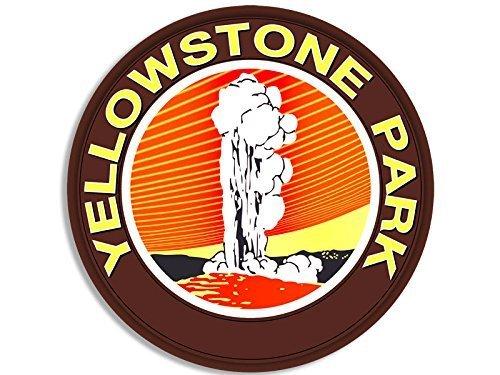 - GHaynes Distributing Brown Vintage ROUND Yellowstone Park Geyser Sticker Decal (national park) Size: 3 x 5 inch