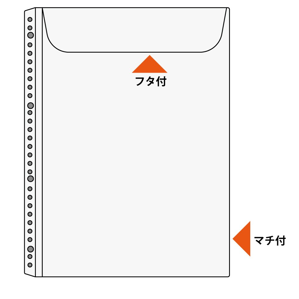 japan import 2.4.30 hole corresponding la-A35 mass documents or catalogs manual 10 sheets A4-S Kokuyo clear book Kawakami envelope type gusset Can accommodate the number of holes ..