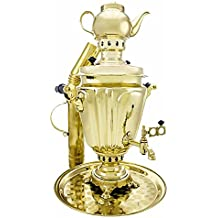 "Samovar on coal, charcoal, firewood 5 liters ""Glass with edges"" in a set of ""Present"""