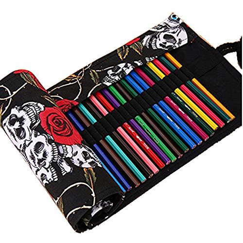 Shulaner Canvas Roll up Colored Pencils product image