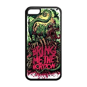 Snap-on TPU Rubber Coated Case Cover for iPhone 5C [BMTH Bring Me to the Horizon]