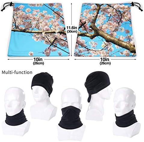 Cherry Blossoms ネックカバー 男女兼用 バンダナ 息苦しくない フェイスガード 多機能 マジックスカーフ