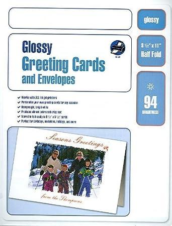 Amazon glossy inkjet photo quality greeting cards with glossy inkjet photo quality greeting cards with envelopes 100 cards envelopes m4hsunfo