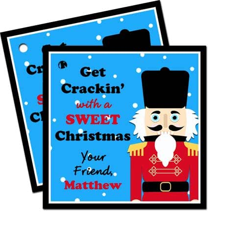 a7386226c357a Amazon.com: Personalized Nutcracker Christmas Gift Tags Favor Tags ...