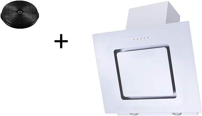 respekta CH22010WX+MIZ0031 - Campana extractora (60 cm, incluye filtro de carbón activo), color negro: Amazon.es: Grandes electrodomésticos