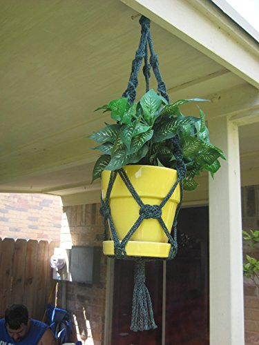 """Handmade Antique Jade 26"""" Macrame Plant Hanger Perfect Gift Idea for Birthdays Mothers Day and all occasions"""