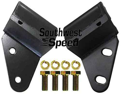 NEW 55-57 CHEVY REAR ENGINE MOUNTING BRACKETS FOR SBC & BBC V-8 & INLINE 6 CYLINDER ENGINES WITH MANUAL TRANSMISSIONS, THESE MOUNTS BOLT TO THE BELLHOUSING, 1955 1956 1957 TRI-5 150 210 BEL AIR NOMAD