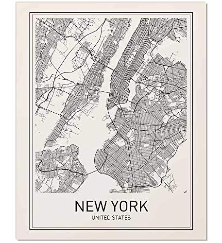 New York Poster, New York Map, New York City, City Map Posters, NYC, New York Print, New York Art, New York Art, Minimalist Art, Map Wall Art, New York Map Art, NYC Poster, 8x10 from MotivatedWallArt