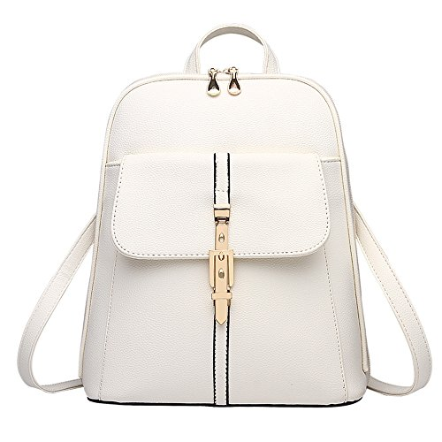 Fashion Rucksack Girl Travel White New H Backpack Shoulders Bag School Bag TAVEL Women Mini Leather UEqxpnIPx1