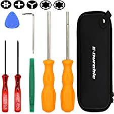 E.Durable Gamebit Set, 3.8mm and 4.5mm Security Screwdriver Game Bit Set for Sega Master Genesis 32x, Nintendo Switch and Nintendo 64 console,Game Cube Console,etc - Lifetime Warranty