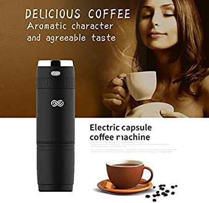 sjled portátil cafetera expreso funciona con batería, máquina de café manual Viaje Cafetera Eléctrica Portable Coffee Maker: Amazon.es: Hogar