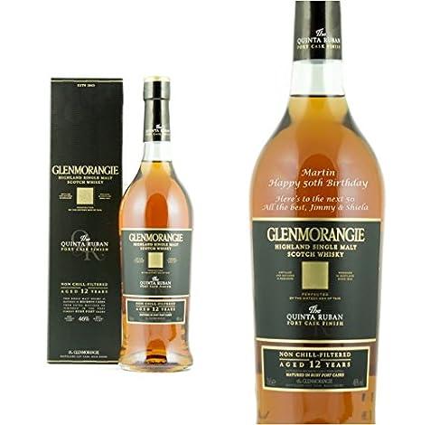 Personalised Glenmorangie Quinta Ruban Single Malt Whisky 70cl Engraved Gift Bottle: Amazon.co.uk: Beer, Wine & Spirits