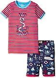 Hatley Little Boys' Organic Cotton Short Sleeve Appliqué Pajama Sets, Vintage Nautical, 2 Years