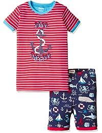 Hatley boys Organic Cotton Short Sleeve Applique Pajama Set
