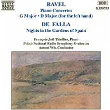 Ravel: Piano Concerto in G / Concerto in D for piano left hand / Falla: Nights in the Gardens of Spain