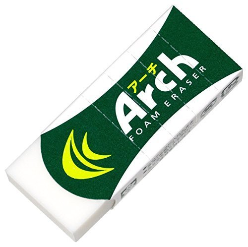 Sakura Arch Evolutional Foam Erasers, 5-Pack, White (Japan Imported)