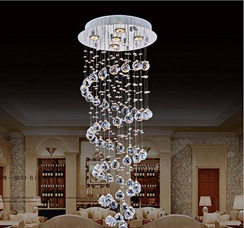 Cheap Lightess Modern Chandelier Rain Drop Lighting Crystal Ball Fixture Pendant Ceiling Lamp 5 Lights