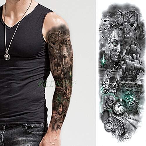Yyoutop Impermeable Etiqueta Engomada del Tatuaje Temporal Lobo ...