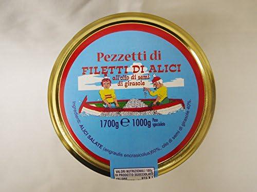 アリコン社 ひまわりオイル漬け ピースアンチョビ 1700g イタリア産