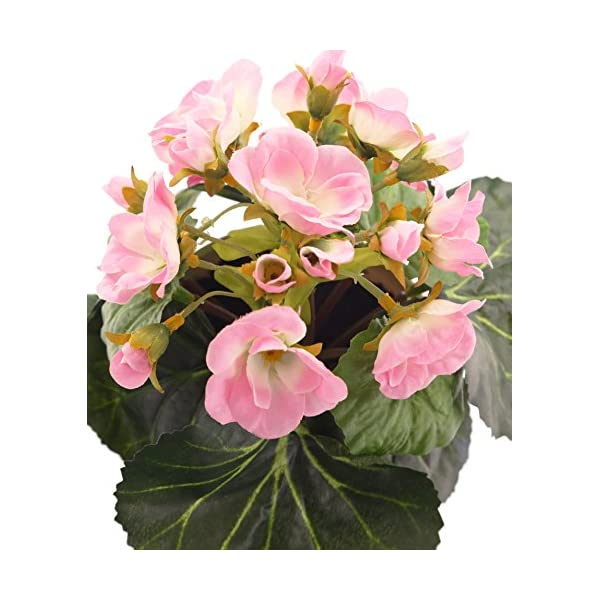 Closer2Nature Artificial 7.5″ Pink African Violet Plant