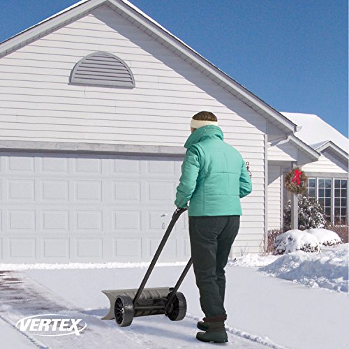 Power Dynamics Easy Leverage 30 Inch SnoDozer Rolling Snow Shovel on Wheels - Made in USA, Ergonomic Snow Clearing Push Plow for Driveways and Sidewalks by Vertex (Image #4)