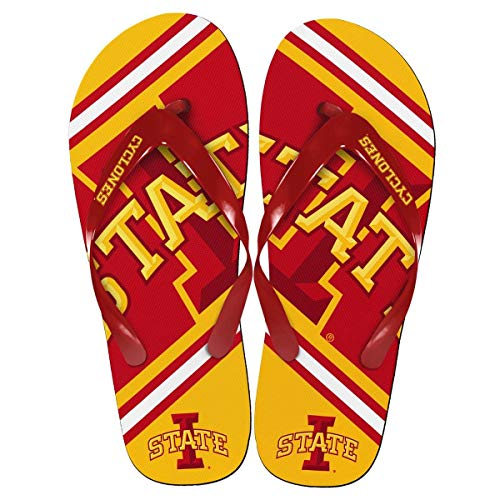 Forever Collectibles Iowa State Cyclones Unisex Big Logo Flip Flops Large (M 9-10) Yellow