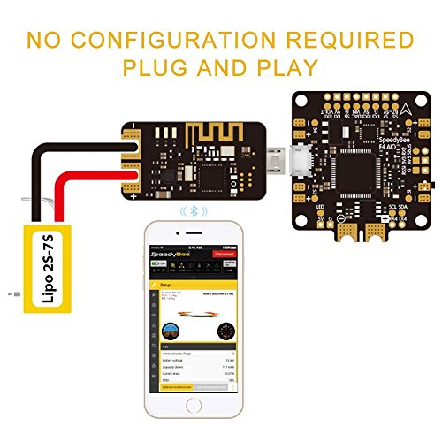 nidici Speedy Bee Bluetooth USB Adapter Betaflight Convenient Mobile Ground Station Supported iOS and Android for FPV Drone Flight Controller by Speedy Bee (Image #4)