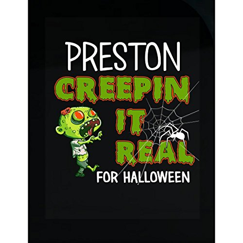 Preston Creepin It Real Funny Halloween Costume Gift - Sticker -