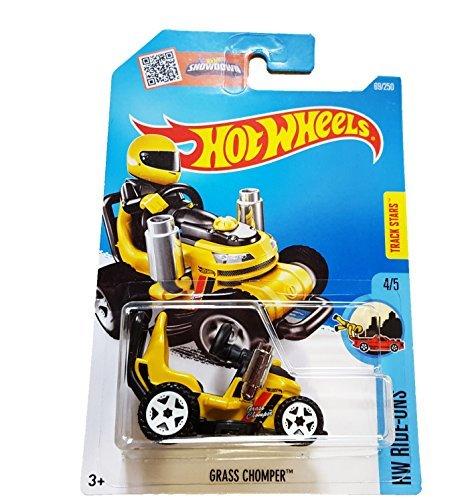 Hot Wheels 2016 HW Ride-Ons Grass Chomper (Ride-On Lawn Mower) 69/250, Yellow