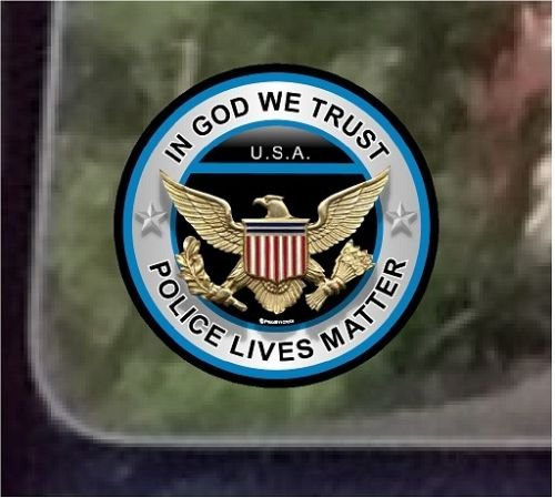 4 Patriot Series In God We Trust ProSticker 308.2P Two Police Lives Matter Thin Blue Line Support Decal Sticker ProSticker.com