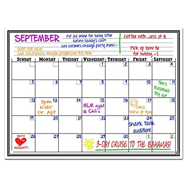 Smart Planner Magnetic Dry Erase Board Monthly Calendar, 16 X 11.75-Inches