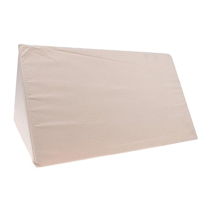 1 pc Almohadilla Almohada de Cuña para Reflujo de Espuma ácido Cómodo Dormir Relajarse - Blanco