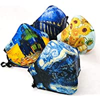 MEXI-K9 4 Piezas Cubrebocas lavable 4 capas Van Gogh