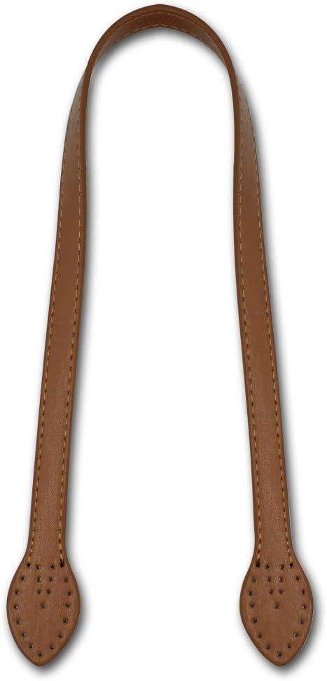 2 St/ück POFET 60 cm massives PU-Leder Tragetasche G/ürtelriemen Handtaschengriff f/ür die Taschenherstellung Geldb/örsenherstellung N/ähen am Taschengriff Ersetzen eines Paares - Kamel