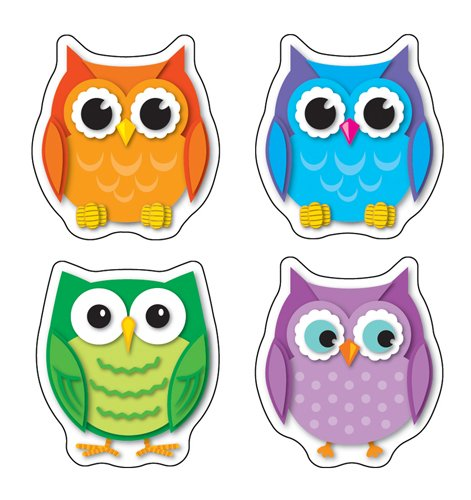 Carson Dellosa Colorful Owls Shape Stickers (168078)