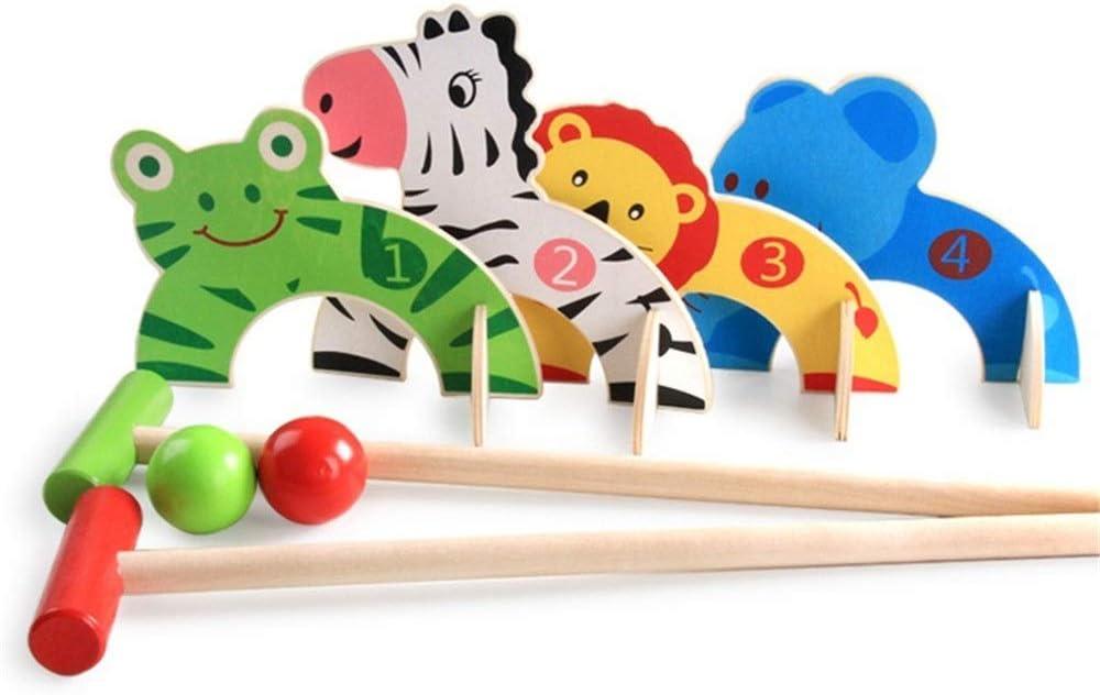 Golf para Niño Regalos de Interior Juegos de Deportes al Aire Libre de la Familia de Dibujos Animados de la Bola de Billar del bebé Juguetes for niños de Golf de Madera