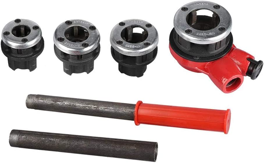 fili/ères /à main pour hydrauliques 1-1//4 4 pi/èces Kit de filetage pour tuyaux hydrauliques manuel de 1//2 set fili/ères en valise 3//4 1
