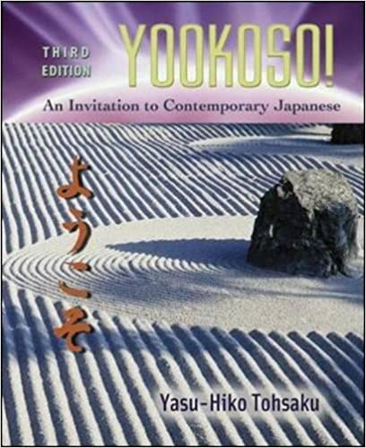 Yookoso An Invitation To Contemporary Japanese 3rd Edition Pdf