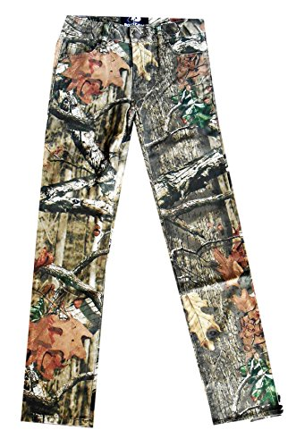 Girl's Mossy Oak Break-Up Infinity 5 Pocket Stretch Jeans Adjustable Waist Size 12