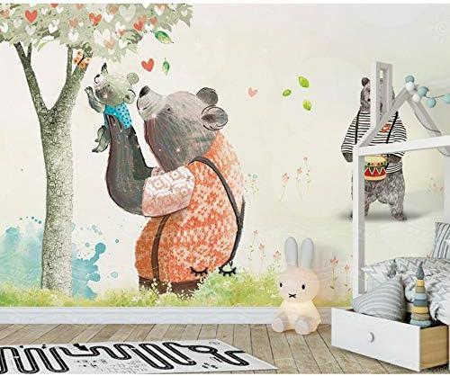 Luludsoo Peint Grande Murale Mignon Arbre Bande Dessinée 3d