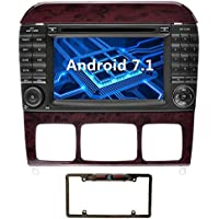 YINUO 7 inch Android 7.1.1 Nougat Quad Core Car Stereo HD Touch Screen Car Radio Receiver DVD GPS Navigation for Mercedes-Benz S-W220/S280/S320/S350 support Bluetooth Wifi