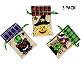 MHKECON Halloween Tote Bags Drawstring Bag Costume Party Favor Bags Candy Goody Bag for Kids, Boys and Girls (All)