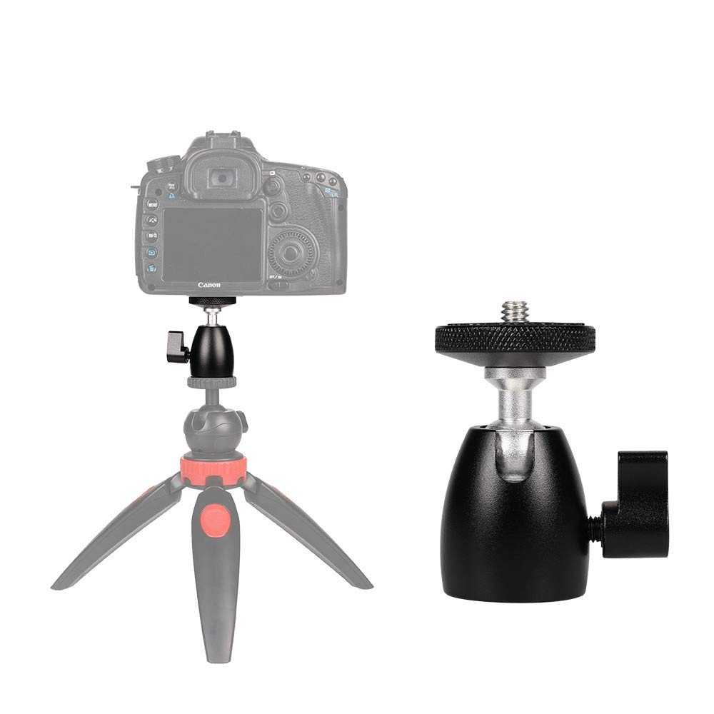 HEGUANGWEI Camera Mount Q39 360 Degree Rotation Panoramic Metal Ball Head for DSLR & Digital Cameras Photography by HEGUANGWEI