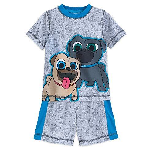Disney Pjs Short Pajamas - Disney Puppy Dog Pals Sleep Set for Boys Size 5/6 Multi