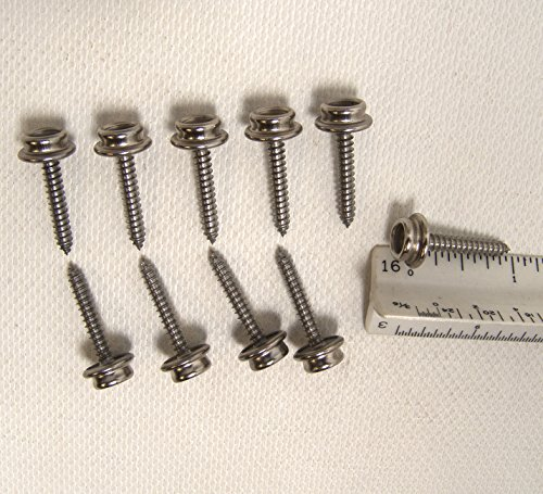 Snap Screw Stud, 1'' Inch Stainless Steel Screw #8, 10 Piece Set - Shipped from The USA! by Fasnap