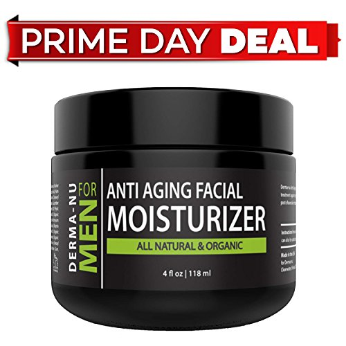 Mens Moisturizer, Aftershave Lotion & Anti Aging Cream – Prevent Post Shave Irritation + Age Defense – All Natural – Derma-nu For Men - (Miracle After Shave)