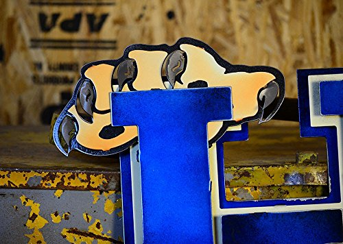 Gear New University of Kentucky 3D Vintage Metal College Man Cave Art, Large, Blue/White/Brown by Gear New (Image #4)