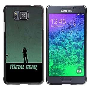 Stuss Case / Funda Carcasa protectora - Metal Gear - Samsung ALPHA G850